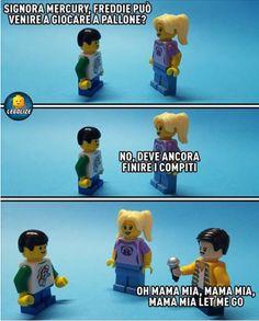 Lego Humor, Freddie Mercury, Lego Avengers, Iron Man, Thor, Italian Memes, Les Beatles, Legoland, Bad Timing