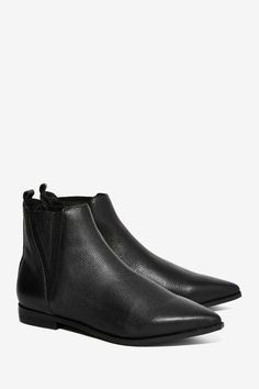 Jeffrey Campbell Harvell Leather Ankle Boot - Shoes | Flats