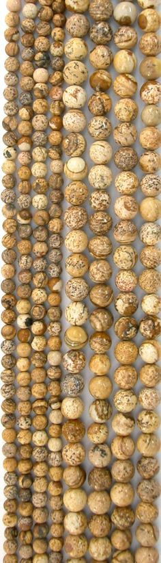 Picture Jasper Round Beads, 16in Strands