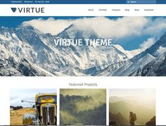 Virtue WordPress Theme is a Gutenberg ready business theme. WordPress business theme with Gutenberg blocks. Best Free Wordpress Themes, Wordpress Theme Design, Premium Wordpress Themes, Template Wordpress, Tema Wordpress, Wordpress Org, Wordpress Plugins, Sliders, Free Web Design