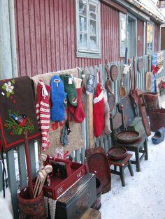 Open air Christmas market at the Norwegian Folk Museum