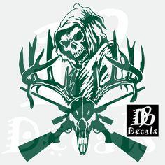 Custom Yeti, Truck Decals, The Cross Of Christ, Deer Skulls, Lion Of Judah, Hunting Guns, Sticker Vinyl, Custom Decals, Grim Reaper