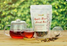 Apple Rose Fruit Tea 100g Blueberry Fruit, Peach Fruit, Fruit Tea, Apple Roses, Wine, Bottle, Food, Products, Meal
