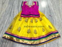 Yellow Shimmer Net Lehenga | Indian Dresses