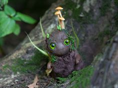 OOAK art toy Young Oak doll fantasy creature by Furrykami-creatures.deviantart.com on @DeviantArt