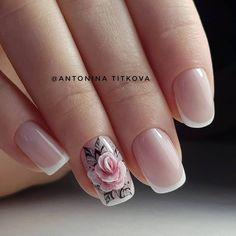 3d Nail Art, Rose Nail Art, Floral Nail Art, Rose Nails, Flower Nails, Pink Nails, My Nails, Beautiful Nail Art, Gorgeous Nails