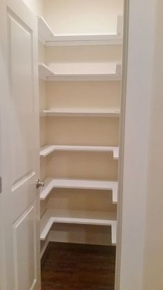 Elegant Kitchen Pantry Makeover, Replace Wire Shelves With Wrap Around Wood Shelving  For Under $130 DIY