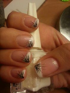 My shellac nails art :)