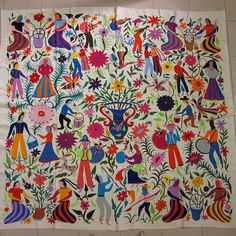 Otomi fabric and textiles for home decoration by Mexico Culture, via Flickr