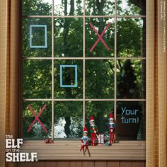 It's your turn to play in this game of tic-tac-toe! Which letter would you like to be: X's or O's?| Elf on the Shelf Ideas