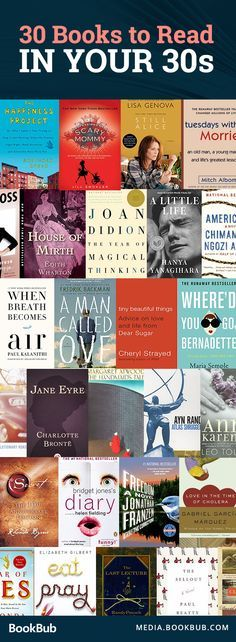 30 books to read in your thirties, including a mix of novels and nonfiction books for both men and women. These awesome books include lessons on life and love!