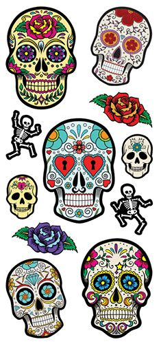Paper House Productions - Puffy Stickers - Sugar Skulls