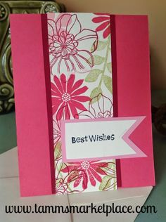 """Limited Edition from the """"Ivory Set"""" Best Wishes Card with Ivory Envelope MKC007"""
