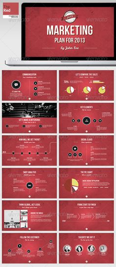 TheRed Powerpoint Template