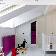 Great splash of colour using a classic column radiator making a feature of the room. #columnradiators #radiator #traditionalradiator
