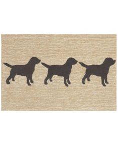 Liora Manne Front Porch Indoor/Outdoor Doggies Black 2' x 3' Area Rug | macys.com