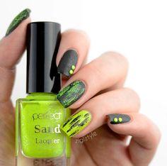 Neon Nails #green #polish #nailart #nails - bellashoot.com