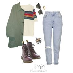 Bangtan Outfit / #4 by youaremorethanbeautiful on Polyvore featuring polyvore, fashion, style, Band of Outsiders, Burberry, Topshop, Dr. Martens, Monserat De Lucca, Carven and clothing