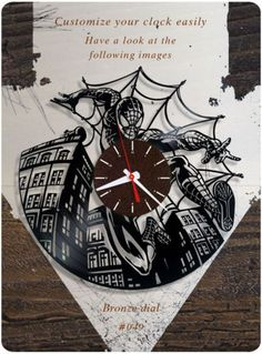 Spider-Man-clock-wall-clock-clock-kids-clock-gift-idea-049