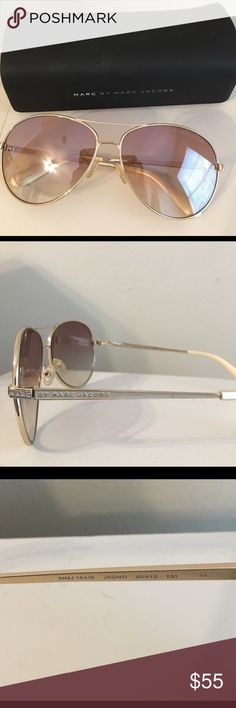 Marc Jacobs aviator sunglasses  Perfect condition, no flaws! Marc Jacobs aviator sunglasses  . Comes with case also in perfect condition  Marc By Marc Jacobs Accessories Sunglasses