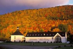 Glenora distillery Cape Breton.  It was a beautiful evening when we arrived at the cottages here and a sampling tour didn't hurt either!