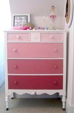 Pink color palette dresser - love!