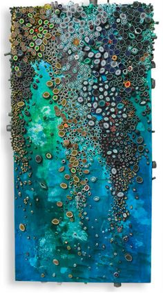 Aquamarine Falls - Coral Reefs of Paint and Paper by Amy Eisenfeld Gesner