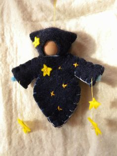 Star Child Waldorf Doll Ornament Christmas Winter by MamaWestWind, $22.00