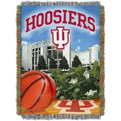 Ncaa 48 inch x 60 inch Tapestry Throw Home Field Advantage Series- Indiana, Red