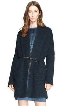 Fabiana Filippi Bouclé Knit Cardigan with Leather Tie Belt available at #Nordstrom