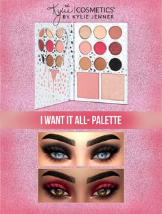 Kylie Cosmetics I want It All Eyeshadow Palette 9 swatches Found in eyeshadow Works with Hq (Pictures took with Hq mod) Hope you l...