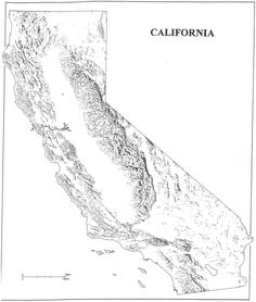 California cut-out for craft projects california-outline