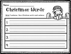 Use Christmas vocabulary to practice a number of skills in this quick and easy to prepare FREE Word Work center.