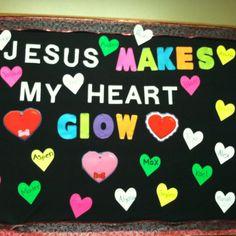 bulletin board for  valentines day!