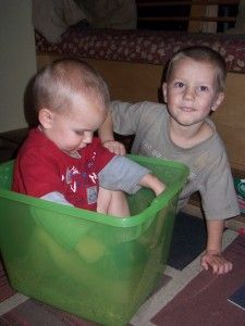 Make a bean box.  Get a rubbermaid container and fill it with beans.  Read on.