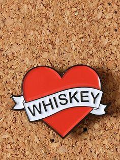 Love Whiskey Enamel Pin - Gypsy Warrior
