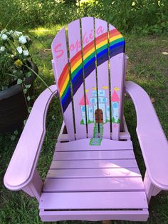 Painting Sunny Adirondack Chairs Paint furniture Backyard and