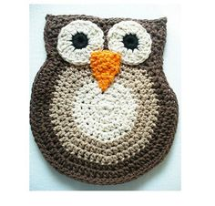 Cotton Crocheted Owl Pot Holder 2 by ACCrochet on Etsy, $15.00