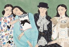 Kelly Beeman's story is a fascinating one. A few years ago, the self taught Brooklyn based artist, who was only drawing nude figures at the time, decided to peruse Style.com in search of inspiration. It was unchartered territory as Kelly didn't know much about fashion. But it was a collection from
