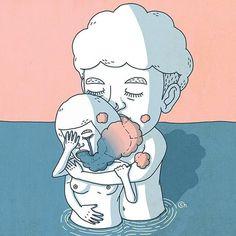 서로 사랑을 한다는건 서로 슬픔을 나누는 것이기도 해요.  상대방의 슬픔을 안아줄 수 있을 때 더욱 서로를 이해할 수 있게 되겠죠.  그래서 저는 바랍니다. 당신의 차가운 슬픔이 나로 인해 녹아내리길 말이에요.  www.fb.com/illuxtrator