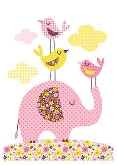 New art quilting ideas patchwork Ideas Applique Patterns, Applique Quilts, Applique Designs, Embroidery Applique, Quilt Patterns, Elephant Quilt, Baby Elephant, Baby Girl Quilts, Girls Quilts