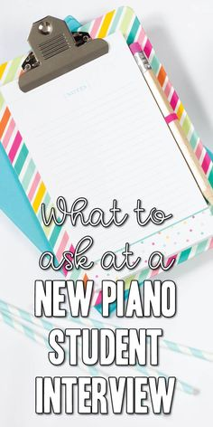 Questions to ask at a piano student interview and what else to include.