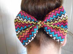 Fun and adorable zigzag hair bow by TheDABcollection on Etsy, $3.99