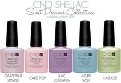 CND Shellac UV Nail Gel Polish Spring Summer Sweet Dreams 2013 Collection 5 Color Set *** You can get additional details at the image link.