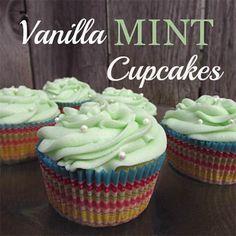 Vanilla Mint Cupcakes | Spoonful  #vanillamint #cupcakes