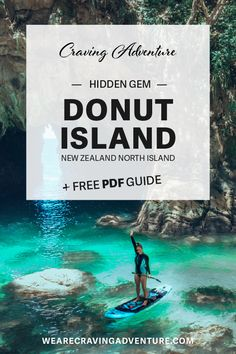Paddling to Donut Island - A hidden paradise — Craving Adventure New Zealand North, New Zealand Travel, Kayak Rentals, Lake Tekapo, Offshore Wind, Kayak Adventures, Little Island, Amazing Adventures, Beautiful Places To Visit