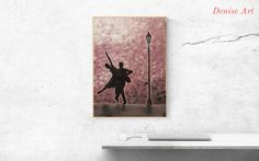 Couple Painting Original Acrylic Wall on - FREE EU shipping by DeniseArtStudio on Etsy Dancing Couple, Dancers, Original Paintings, Batman, Wall Art, The Originals, Canvas, Handmade Gifts, Vintage