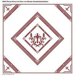 Weihkorbdecken Zählvorlage - Weihkorbdecken - Themen Projects To Try, Cross Stitch, Embroidery, Pattern, Cards, Cross Stitch Embroidery, Religious Pictures, Bruges Lace, Basket