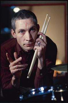 Charlie Watts by Herb Ritts, taken during the Some Girls sessions in Paris, 1977