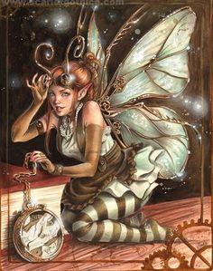 Steampunk Clockwork Fairy - Fée Horlogère Steampunk (c) Claudia SG